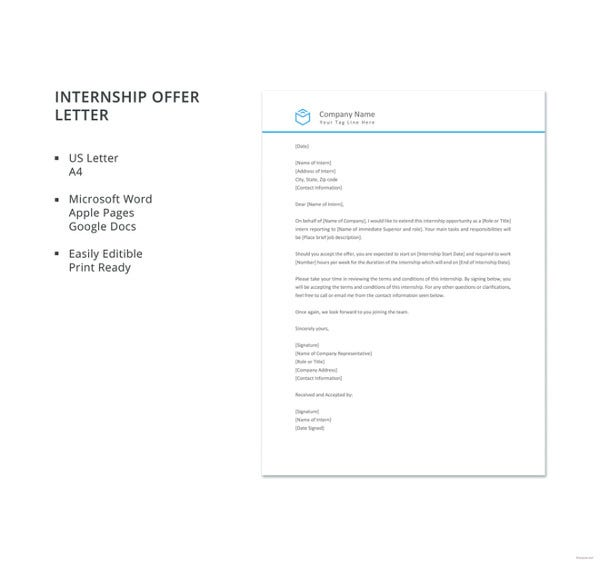 internship offer letter template1