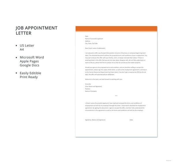 job appointment letter template1