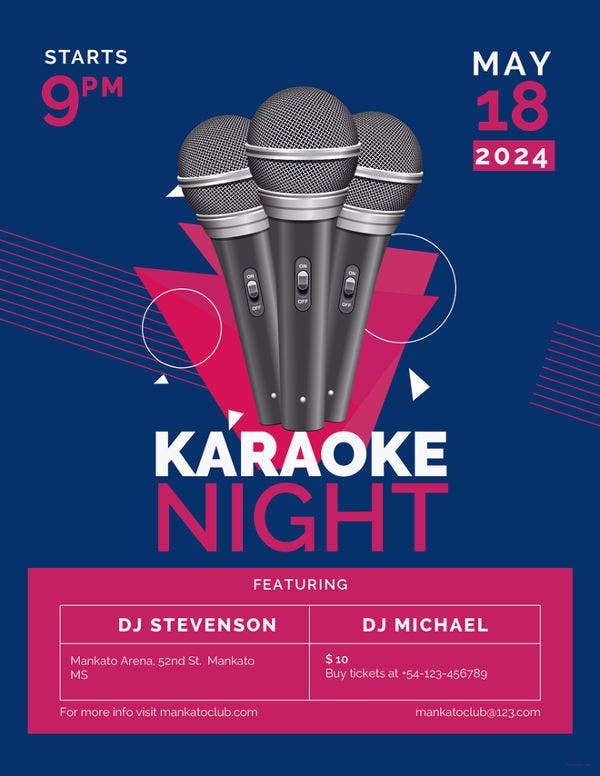 Karaoke party flyers free psd eps vector format download free karaoke flyer template stopboris Choice Image
