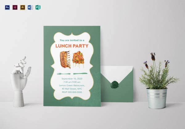 lunch party invitation template1