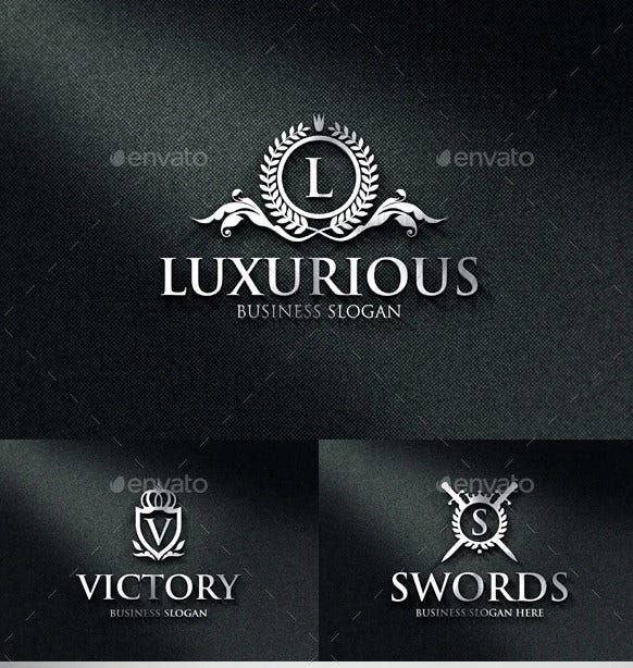 luxurious royal boutique crest logos