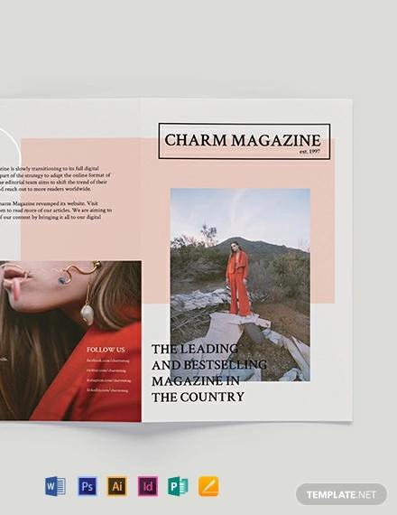 magazine bi fold brochure template