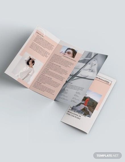 magazine tri fold brochure template