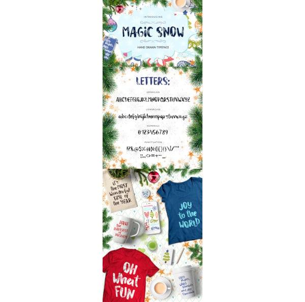 magic snow christmas typefase2