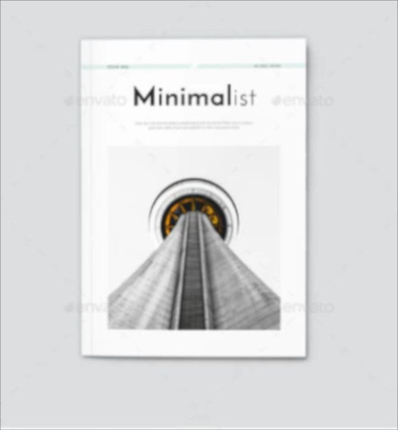 minimalist magazine layout design
