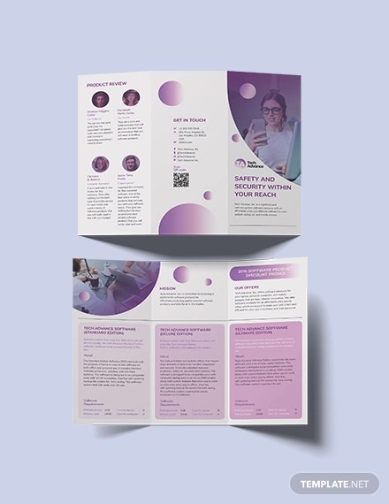 19 Free Software Company Brochures Design Templates Apple Page Google Docs Free Premium Templates
