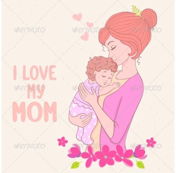 mom love illustration