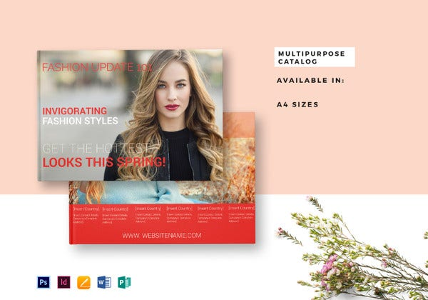 multipurpose catalog template in word
