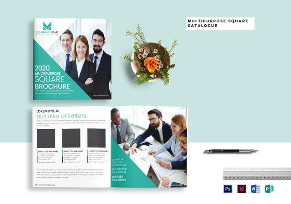 multipurpose square brochure catalog in psd