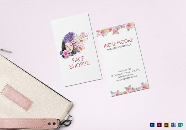 natural floral business card template