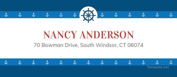 nautical address label template