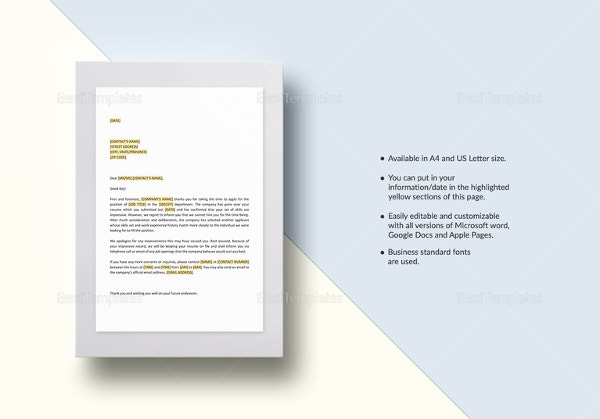 negative-response-to-job-candidate-post-interview-template