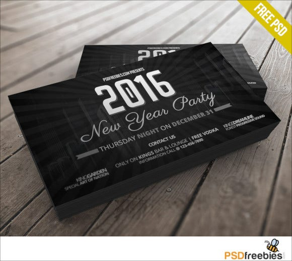 new-years-party-invitation-card