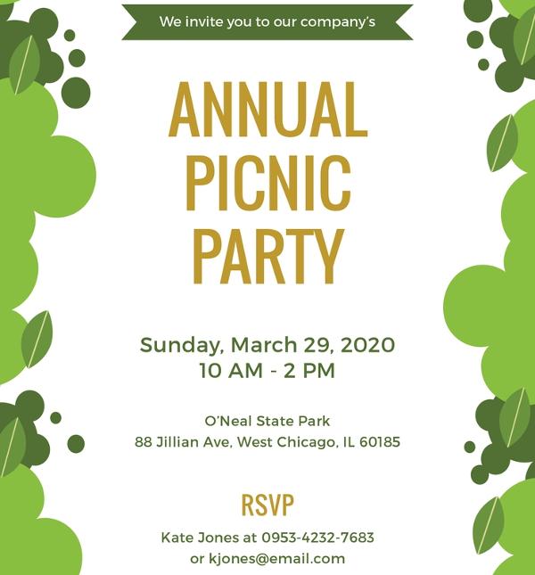 office-picnic-invitation-template