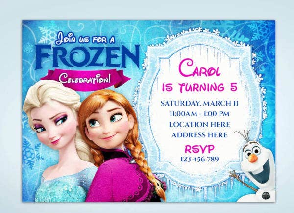 personalized frozen birthday invitation2