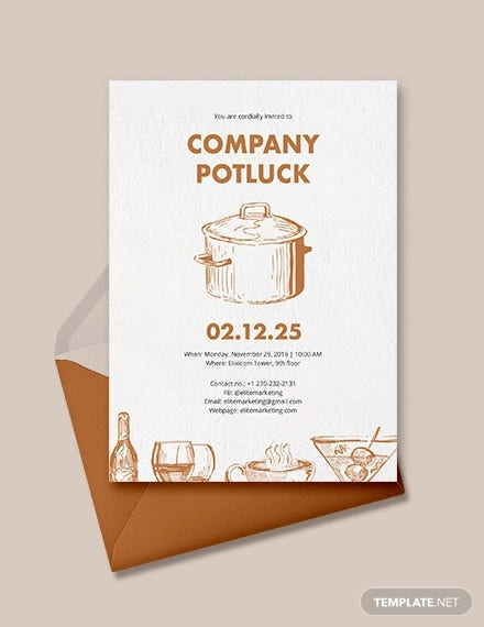 potluck invitation template