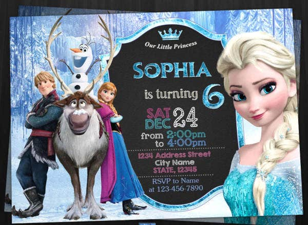 printable frozen party invitation template1