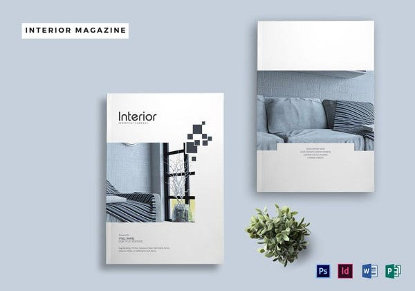 printable interior design magazine template