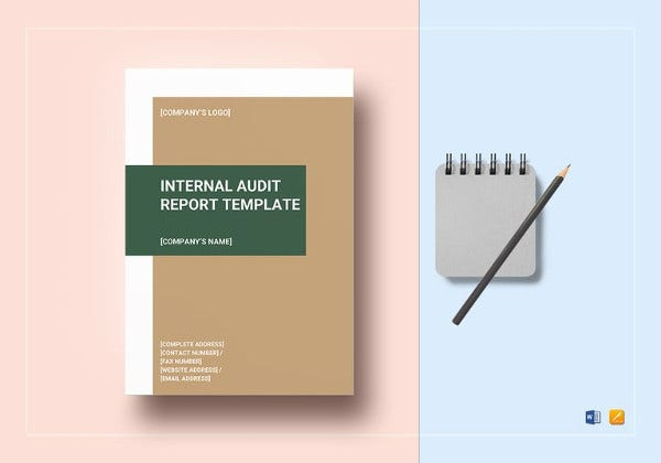 printable internal audit report template