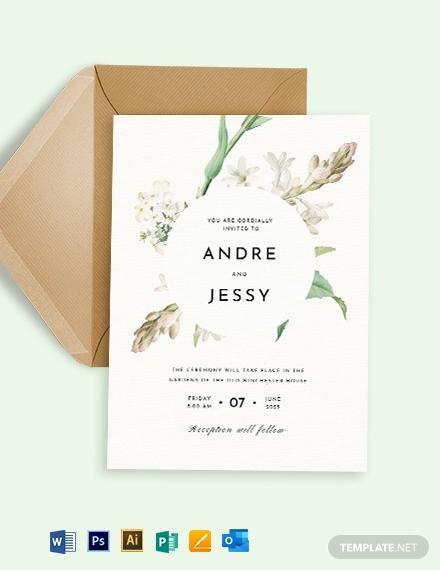 printable wedding invitation template