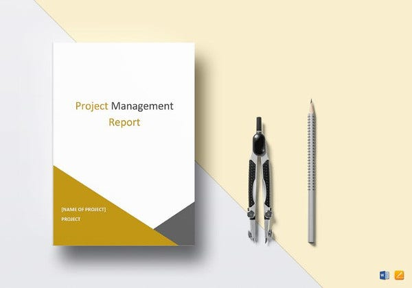 project management report template to print