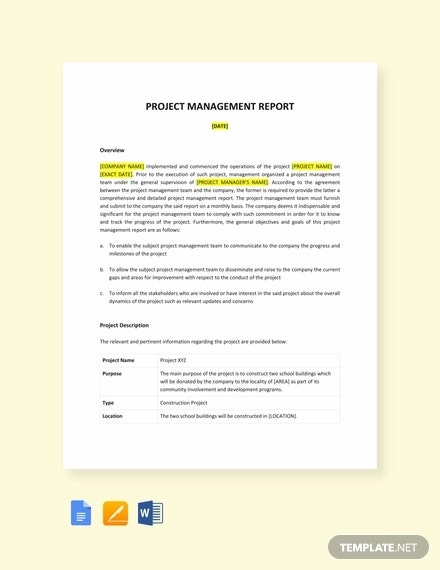 13+ Project Management Report Templates - Ms Word, Excel