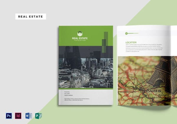 real estate magazine template to edit