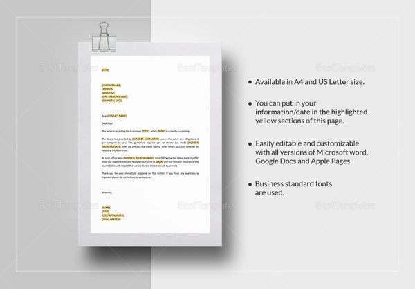 request-release-of-personal-guarantee-template