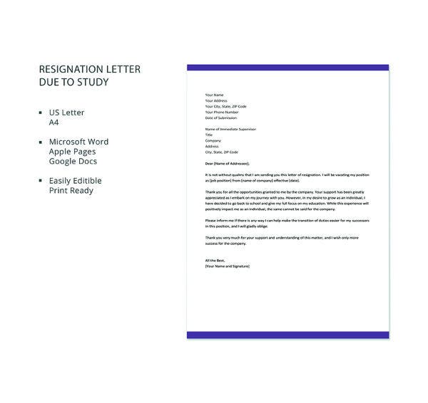 resignation-letter-template-due-to-study