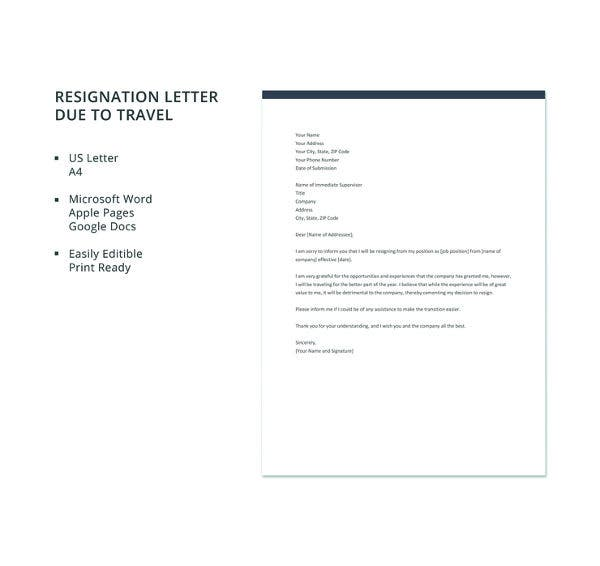 resignation-letter-template-due-to-travel