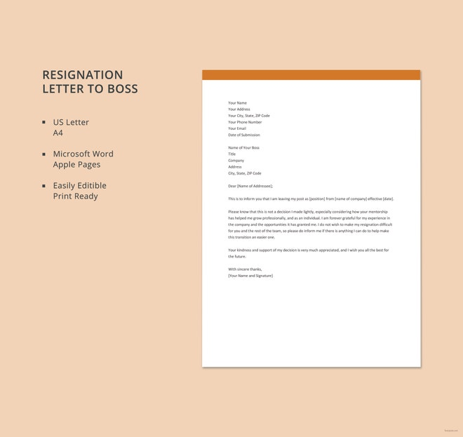 Rude Resignation Letter | Rude Resignation Letter Template 8 Free Word Pdf Format Download