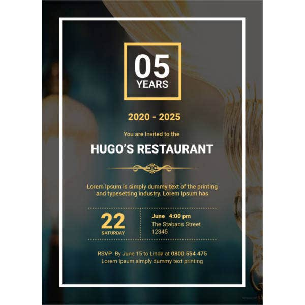 restaurant opening invitation template5