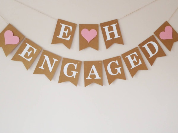 rustic-engagement-party-banner