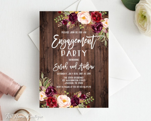 rustic-engagement-party-invitation