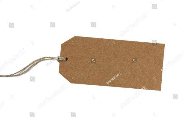 sample blank paper gift tag