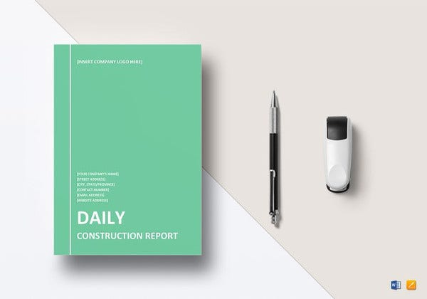sample daily construction report template