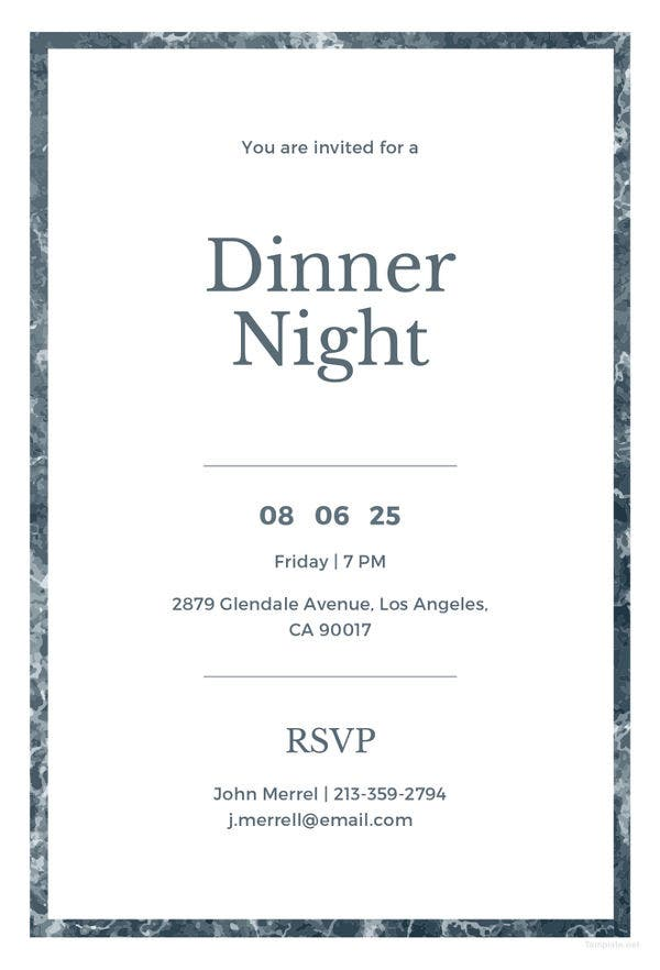 email dinner invitation template