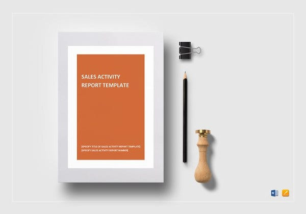 sample sales activity report template