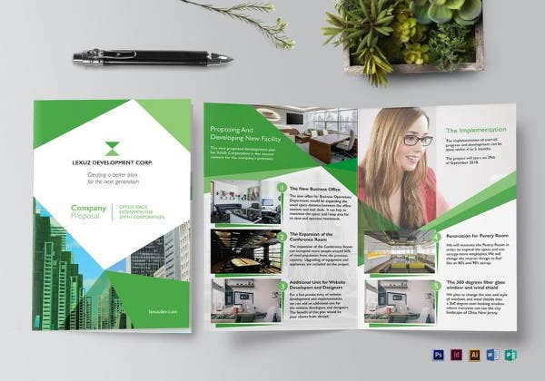 15 software company brochures design templates free for Company brochure design templates