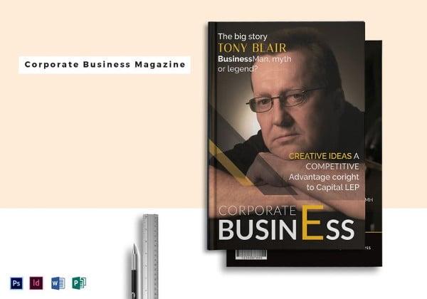 simple corporate business magazine