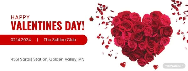 simple valentines day facebook cover