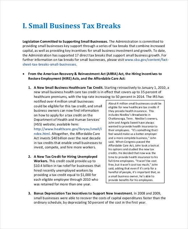 small-business-project-report-template