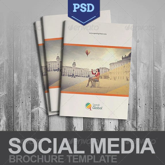 social media a4 brochure