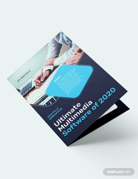 software company bi fold brochure template1
