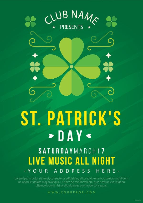 st-patricks-day-celebration-flyer-template