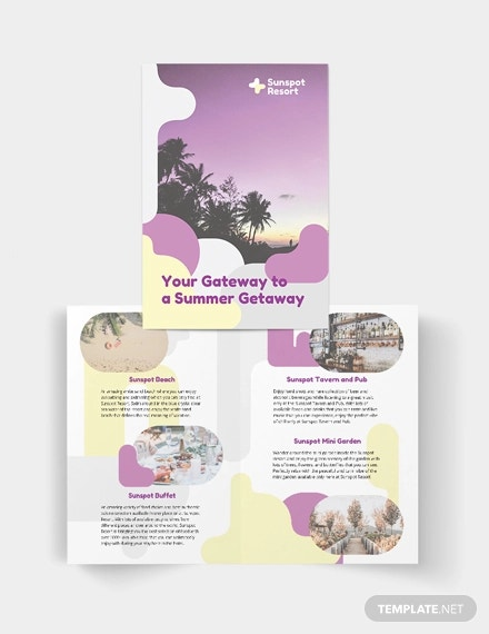 summer bi fold brochure template