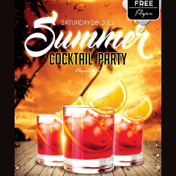 summer cocktail party flyer3