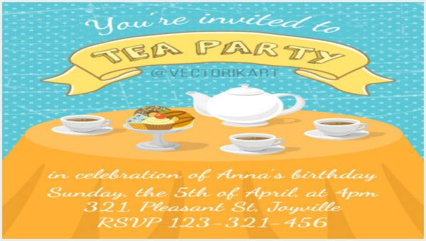 tea party menu templates1