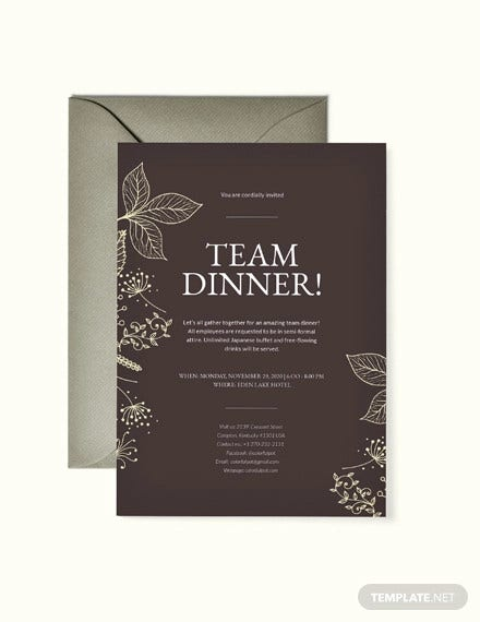 62 Printable Dinner Invitation Templates