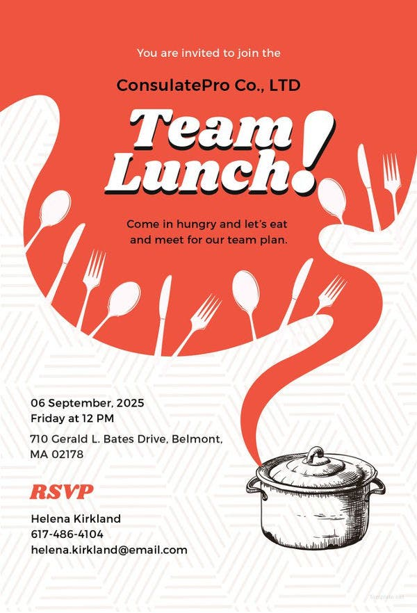 Team Lunch Invite